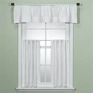 Kitchen Valances Curtains Maison White Kitchen Window Curtain Tiers Bed Bath Beyond