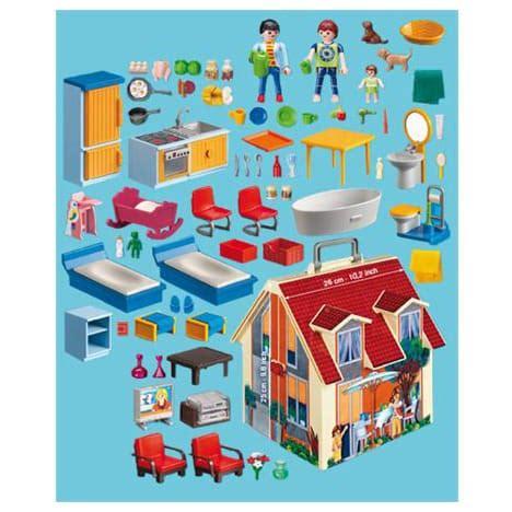 playmobil dollhouse 5167 5167 maison transportable playmobil pas cher 224 prix auchan
