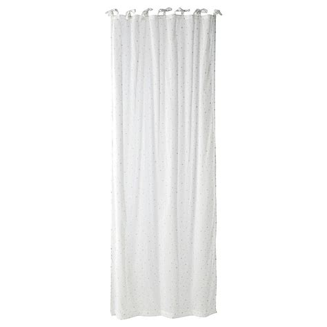 tie top curtains cotton 201 toile cotton tie top curtain in white 102 x 250cm