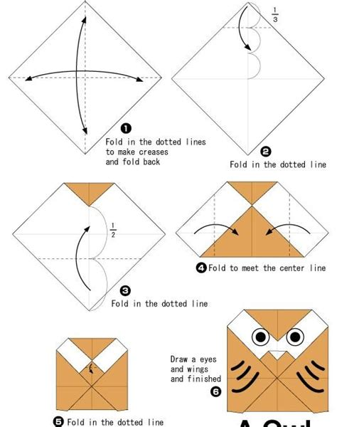 Owl Origami Easy - 7 best images about step by step origami on