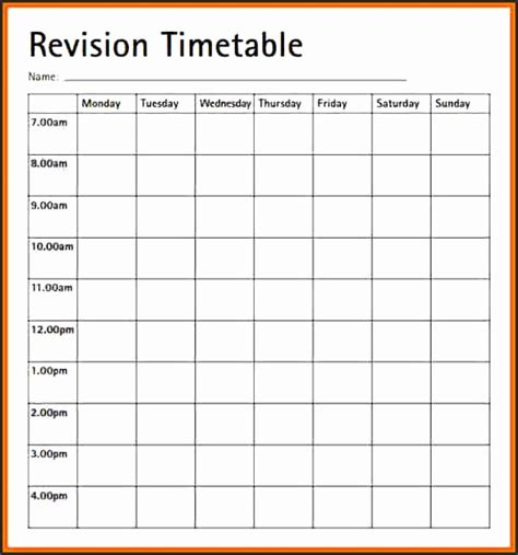 blank revision timetable template revision plan template rst1e luxury of revision timetable