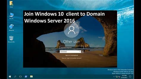 join windows   domain windows server