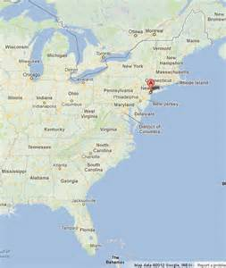 new york on usa east coast map world easy guides