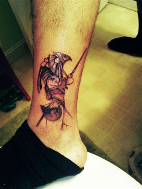 egyptian god horus ankle tattoo tattoomagz tattoo