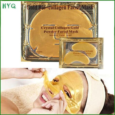 Collagen Gold Powder Mask free shipping 45pair eye mask 5pcs mask