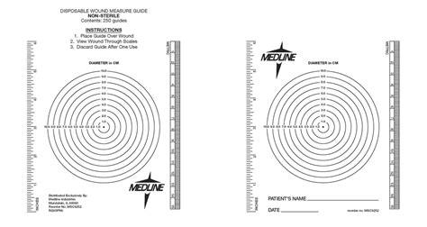 printable ruler guide msc6252 wound measuring bullseye