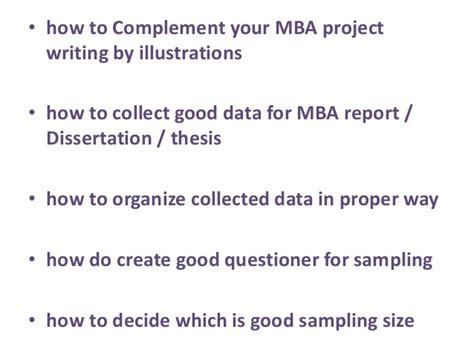 Mba Consultancy Project Exle by Mba Project Report Writing Consultant