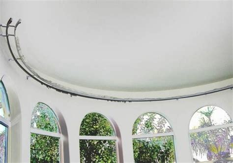 round bay window curtain rods curtain pole to go round bay window oropendolaperu org