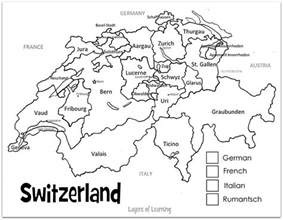 switzerland printable map and country study layers of