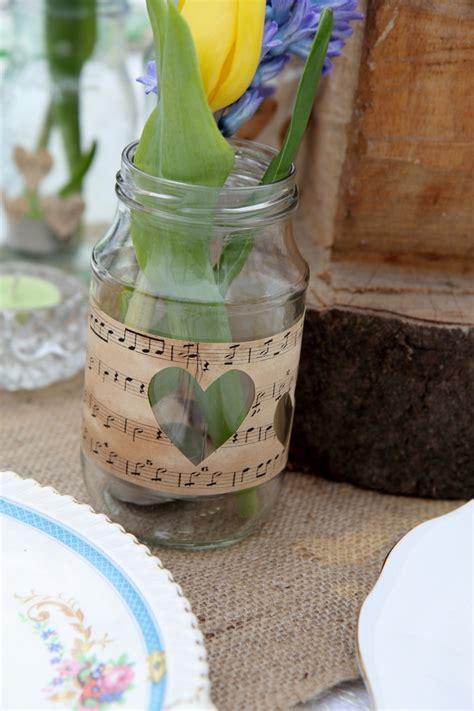 Jar Vases For Wedding by Jam Jar Vase Jam Jar With Vintage Paper Rustic Wedding Barn Wedding Vintage