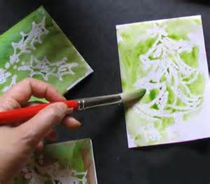Handmade Card Techniques - easy technique for painting handmade cards