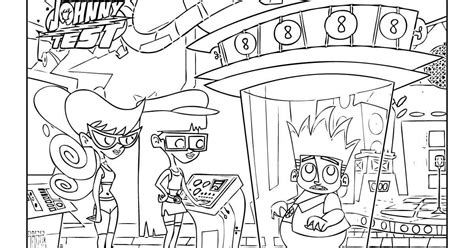 printable coloring pages johnny test johnny test coloring pages to print coloring home