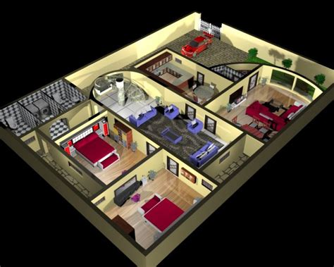 House Plan And Interior Design 3d 3d Model Max House Plans 3d Max