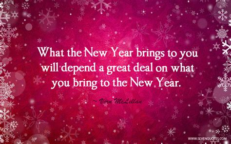 new year what to bring quote of the day
