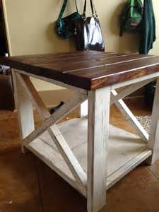 Rustic Side Table White The Rustic X Side Table Diy Projects