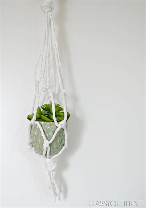 Diy Rope Hanging Planter - diy macram 233 hanging planter