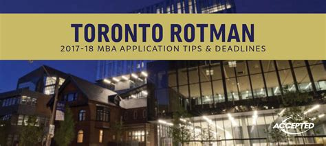 Of Toronto Mba Admission Requirements by Rotman School Of Management Mba Application Essay Tips