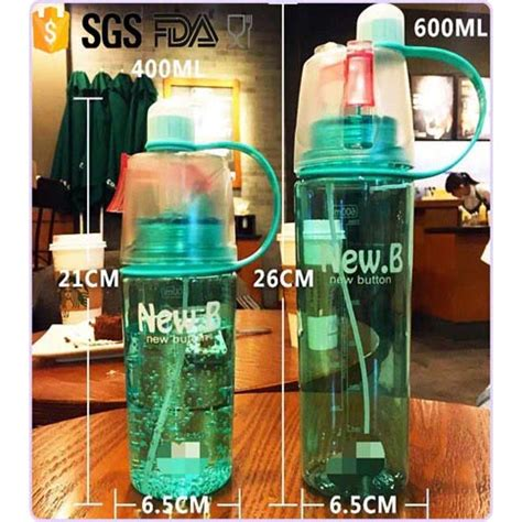 New B Botol Minum Dengan Spray 600ml Limited new b botol minum dengan spray 600ml blue