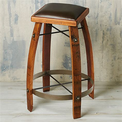 Vintage Barrel Bar Stools by Vintage Oak Wine Barrel Bar Stool 28 Inches With Chocolate