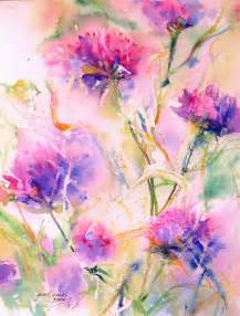 water color flowers abstract flower original watercolor painting modern