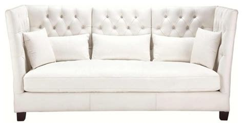 tall loveseat delano sofa eclectic sofas by maisons du monde