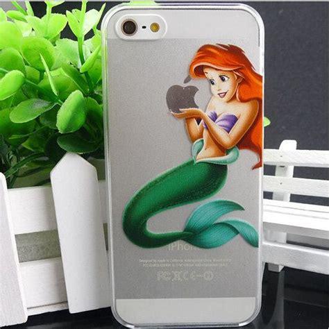 Ariel The Mermaid V1437 Iphone 4 4s 5 5s5c 6 6s 6 P disney mermaid ariel pattern clear snap on