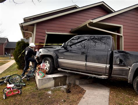 truck crash truck crashes partially inside apartment on toole