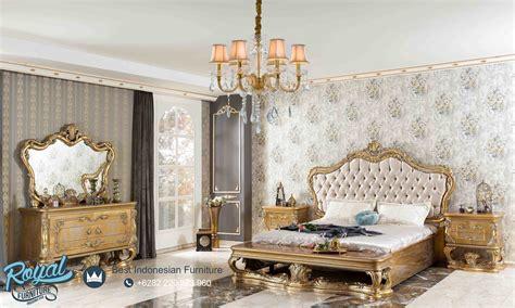 set kamar tidur mewah gold perifi bedroom set terbaru royal furniture jepara