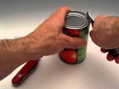 how to use a can opener victorinox proper can opener technique swiss army knife