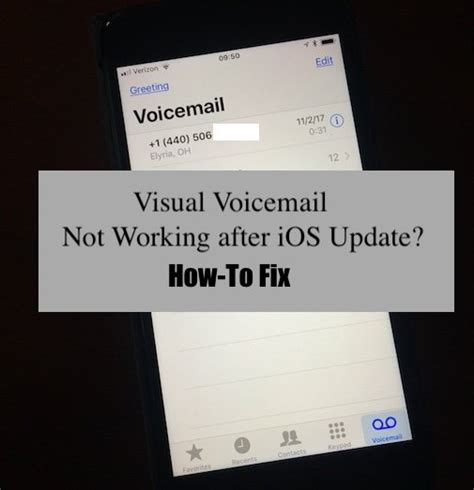 iphone voicemail not working ios 11 ios 12 visual voicemail not working how to fix appletoolbox
