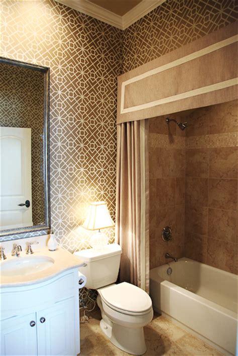 Bathroom Lining Wallpaper Ej Interiors Bathrooms Neutral Bathroom Geometric