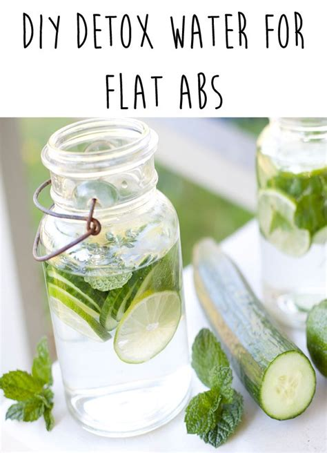 Stomach Detox Water by Diy Detox Water For Flat Abs Miracle Water For Summer