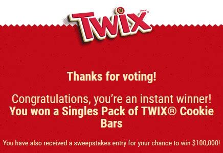 Twix Instant Win - twix 174 brand pick a side instant win game sweepstakes mumblebee inc mumblebee inc