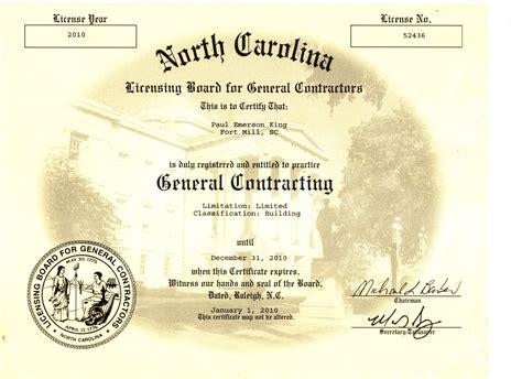 general contractors nc carolina licensing board for general contractors carolina