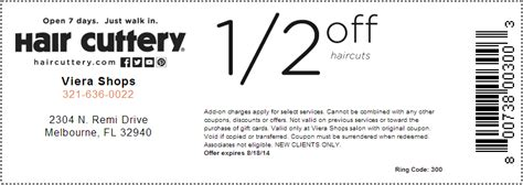 hair cuttery coupons 9 all salon prices