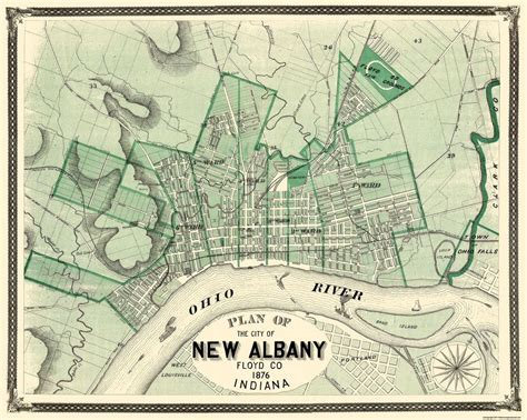 the history of the city of albany new york from the discovery of the great river in 1524 by verrazzano to the present time classic reprint books city map new albany indiana 1876 28 81 x 23 ebay