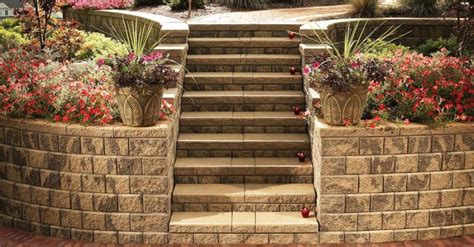 Unilock Steps Installation Stunning Retaining Wall And Coping Options In Howell