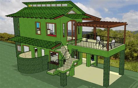 ecological house design casa heliconia pura vida sunsets