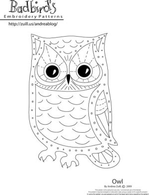 Owl String Template - string owl pattern