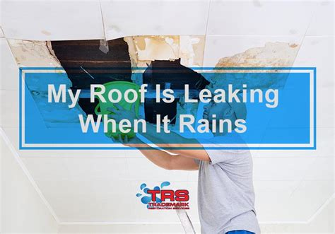Ceiling Leaks When It Rains by Trademark Restoration Las Vegas Damage