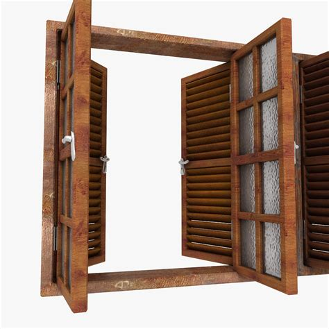 Wooden Window Ledge Wooden Window Shutter Frame Sill Ledge Parapet 3d Models