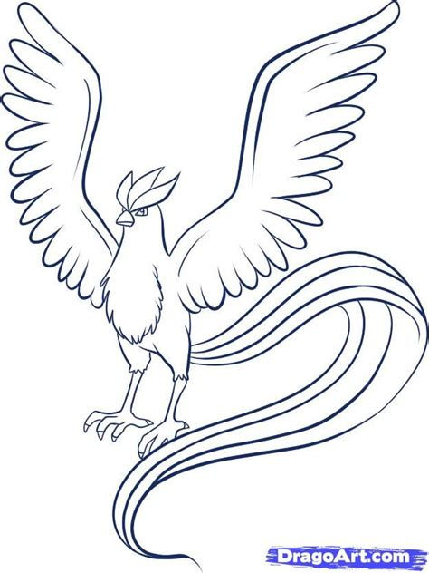 pokemon coloring pages articuno how to draw articuno step by step pokemon characters