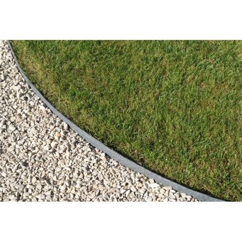 Landscape Edging Grey Plastic Garden Lawn Edging Slat Grey Edging On Sale 50