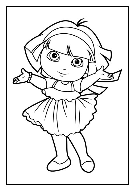 coloring pages free dora dora coloring pages only coloring pages