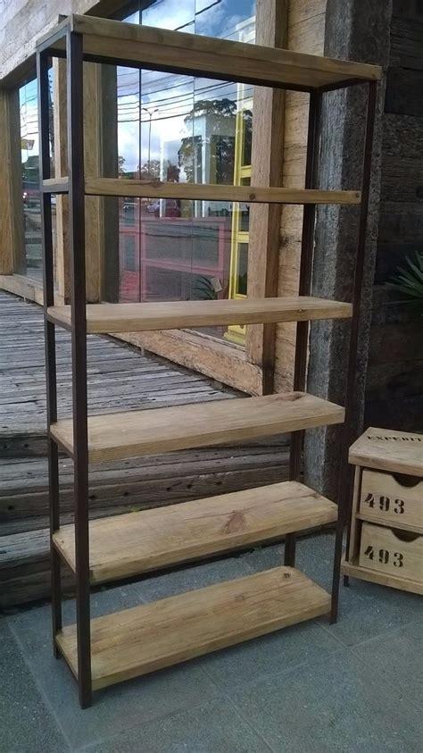 estante industrial praleiras madeira e ferro r 1 998 00 - Estante Ferro E Madeira
