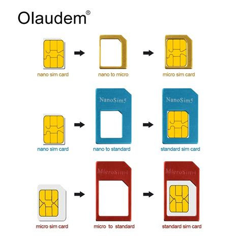 How To Cut Sim Card For Iphone 4 Template Pdf by Aliexpress Buy Sim Card Adapters 4 In 1 Nano Micro