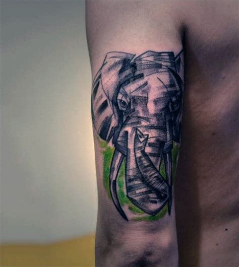 tattoo ink smudge 100 elephant tattoo designs for men think big