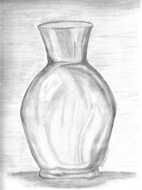 Sketch Of A Vase by Glass Vase By Omagrandmother On Deviantart