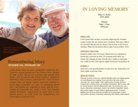 Funeral Program Template by Funeral Program Template