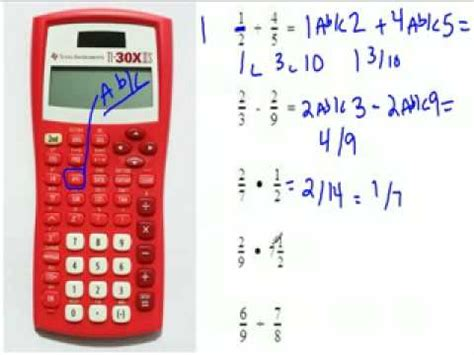 calculator fraction fractions using a calculator youtube